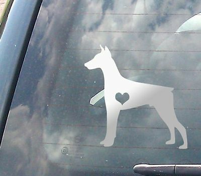 "Doberman Dog Breed Lover - Chrome 5"" Vinyl Decal for Car, Macbook, ect."