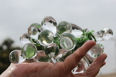 Vintage 1 Chinese Heavy Large Pools Of Light Rock Crystal Grape Cluster Original