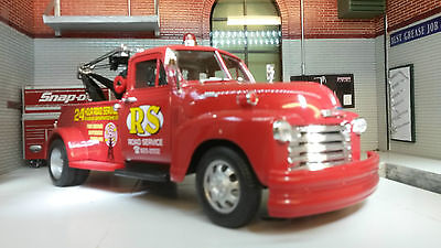 G LGB 1:24 Scale Welly Chevrolet Breakdown 3100 Truck 1953 Chevy Diecast Model