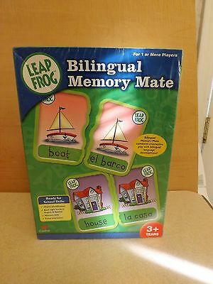 Leap Frog Memory Mate Bilingual Learning Game English & Spanish NEW