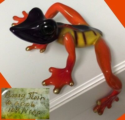BARRY STEIN Bronze FROG Sculpture LIMITED 109 / 1000 Circa 2006 Sold Out Edition