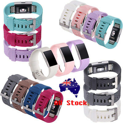 Replacement Silicone Gel Band Watch Strap WristBand For Fitbit CHARGE 2 Bracelet