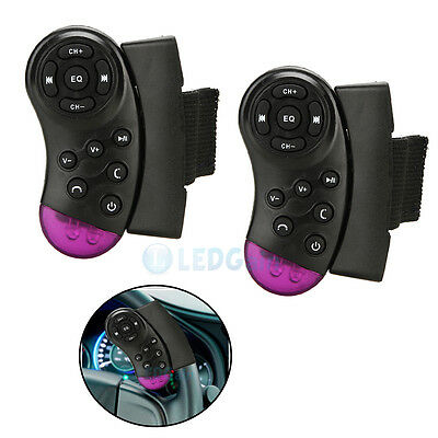 2 x Car Universal Steering Wheel Remote Control for GPS CD VCD DVD TV MP3 Player