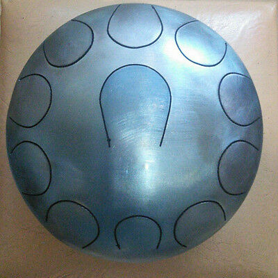 CampaNA Handpan Drum Tongue 11 tones Steel  8 inches 22 sm Tank + Sticks and Bag