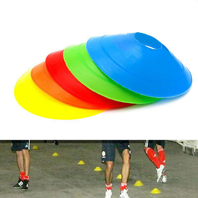 10pcs Cones Marker Discs Soccer Football Training Sports Entertainment 19cm New