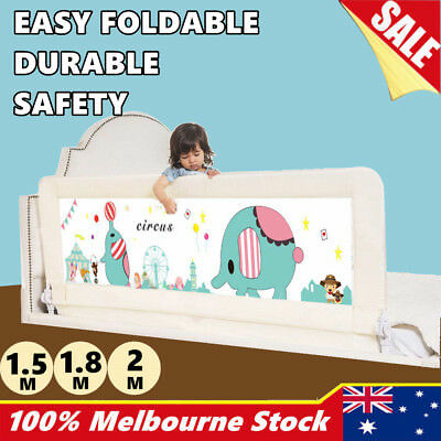 Baby Bedrail Fold Cot Guard Protection Child Toddler Safety Bed Rail 1.5M 1.8M