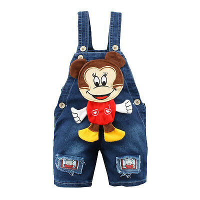 Toddler Baby Girl Boy Playsuit Jumpsuit Dungaree Jeans Bib Pants Overall Outfit