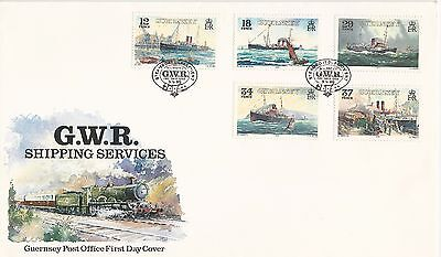 Guernsey Fdc 1989 Shipping Ships Great Western Gwr Beautiful