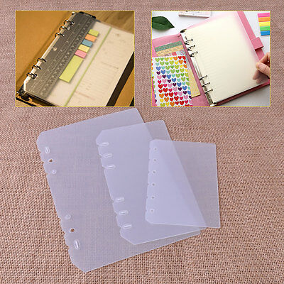 4pc A5/A6/A7 Notebook Scrapbook Page Protector Binder Filler Cover Clear Plastic