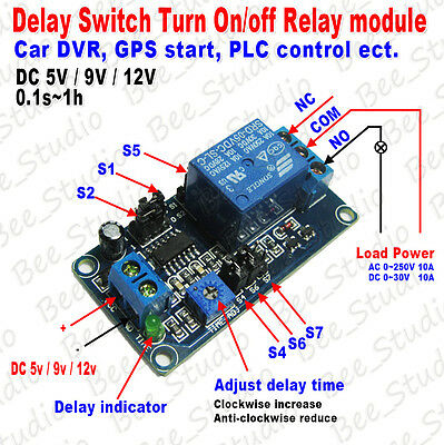 Delay Switch Turn on/off Relay Module Timing Delay Module for Car DVR/ GPS Start