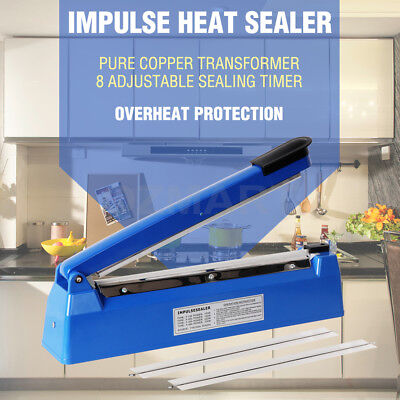 300mm Impulse Heat Sealer Electric Plastic Poly Bag Pure Copper Sealing Machine