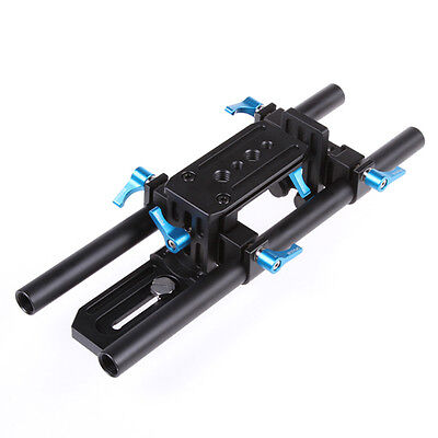 FOTGA Rail System 15mm Rod Rig Baseplate Support fr Follow Focus 5D Mark III II