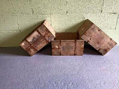 Wooden box (rustic vintage shabby chic apple display storage crate fruit cheese)