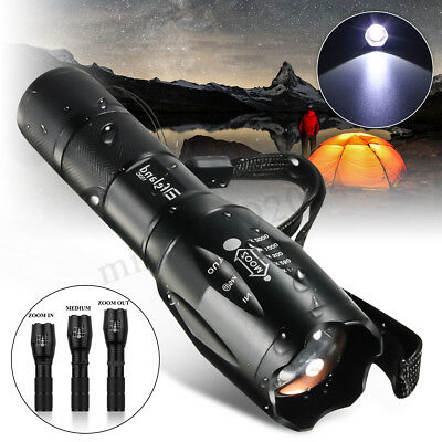 Elfeland Waterproof 6000lm T6 LED Zoomable Flashlight Torch Light Lamp Outdoor