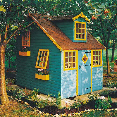 Shire Cottage Playhouse   -  Wendy House Childrens Kids Den (8' x 6') Two Storey