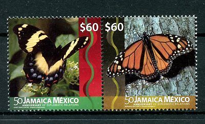 Jamaica 2016 MNH Butterflies Diplomatic Rel Mexico 2v Monarch Butterfly Stamps