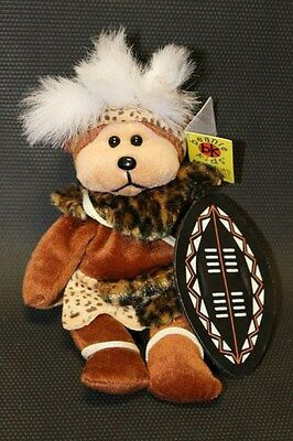 Shaka the Zulu Bear Beanie Kids