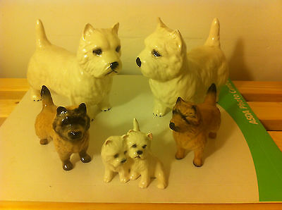A Collection Of Five Beswick Dogs To Include A Pair Of Scotties
