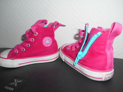 superbe, chaussure, basket converse fille taille 20 rose, ttbe
