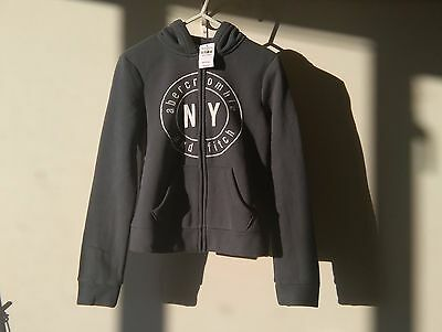 NEW abercrombie and fitch KIDS Girls Zipped Hoodie Top Age 10-11 Size Medium