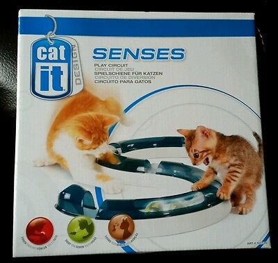 Catit Cat It Senses Super Roller Circuit Cat Kitten Light Up Chase Toy 50736