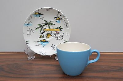 Gorgeous, rare mid century vintage Barker Bros South Pacific Tea Cup and Saucer