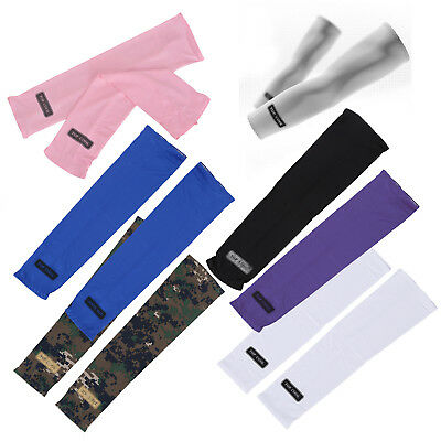Sport Skin Arm Sleeve Cooling UV Cover Sun protective Stretch Armband F6