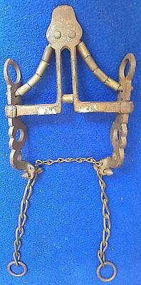 Circa 1800 Spanish Horse Bit with Extreme Curb