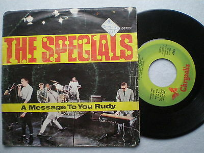 THE SPECIALS Message To You Rudy SPAIN 45 1980