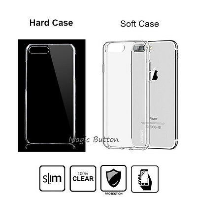 Hard Plastic Soft Case Transparent Clear Slim Thin Cover For iPhone 6 7 8 Plus