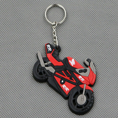 Cool Rubber Motorcycle Keyring Keychain Key Chain Key Ring For HONDA CBR600 1000