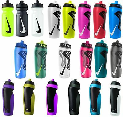 NIKE Sport Water Bottle Gym,Running,Football with Hang Tag 591ml Black/Red/white
