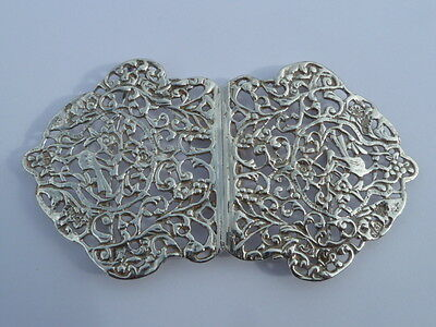 Antique Chester 1897 Solid Hallmarked Silver Nurses Belt Buckle Nathan & Hayes