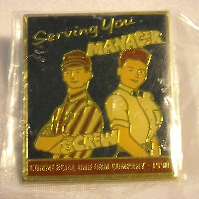 McDonald's Advertising Pin(s) - Serving You Manager & Crew - 1990 Uniform - RARE
