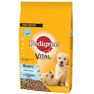 Pedigree Puppy Medium Dog Complete Dry Food Chicken & Rice 10kg