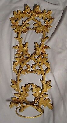 Antique Cast Iron Plant Holder,oak Leafs,branches And Acorns,very Ornate,sconce