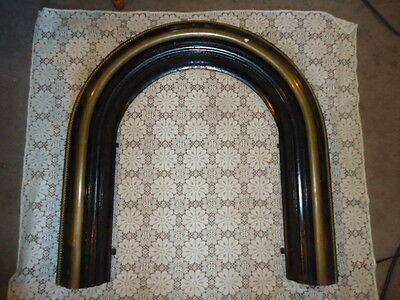 ANTIQUE VICTORIAN FIREPLACE INSERT ARCH w/ BRASS STEAMPUNK,SCULPTURE,PREPPER