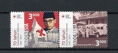 Indonesia 2015 MNH Red Cross Society in Indonesia 70th 2v Se-tenant Set Stamps