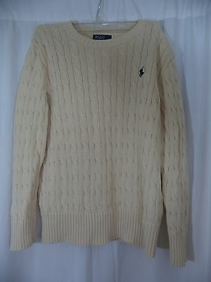Kids Polo by Ralph Lauren cable knit sweater, size medium (10/12)