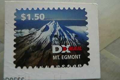 New Zealand Private Mail Dx Mail Stamp Of Mt. Egmont.
