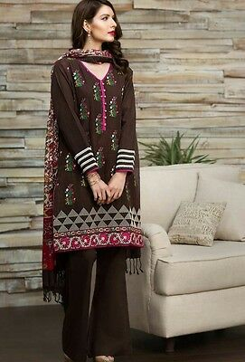 Latest Pakistan Shalwar Kameez Winter Shawl Suit khaadi Collection Tulip Shalwar