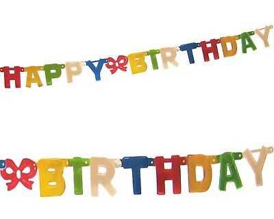 Girlande Geburtstag HAPPY BIRTHDAY bunt 1,5 m x 11 cm Kinder Feier Party Fest