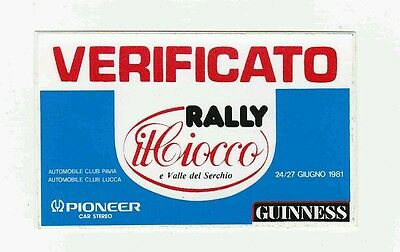 RALLY CIOCCO 1981 adesivo sticker VERIFICATO  ORIGINALE Bettega Perissinot 131