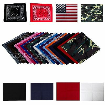 New Wholesale Lot Bandana Paisley 1~360 Pcs 100% Cotton 2 Side Print Head Scarf