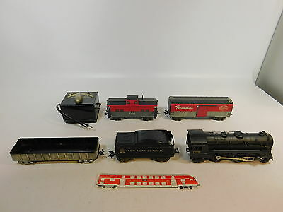AS304-4# LOUIS MARX CO Spur 0 Modellbahn US/USA Dampflok/Lok 999 +Wagen NYC+B&O