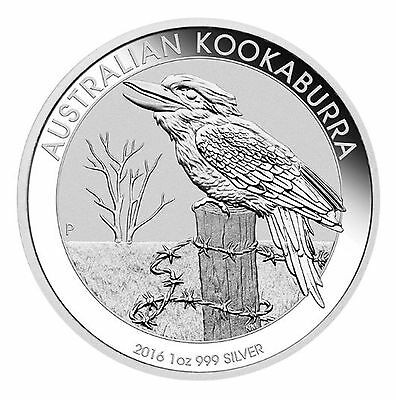 Mint Sealed Roll of 20 2016 Australia 1 oz Silver Kookaburra (BU)