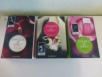 4x E L James : Shades of Grey  - alle 3 Bände  + Fifty Shades of Grey - TOP