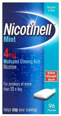 Nicotinell Mint 4mg (96 Pack) Nicotine Medicated Chewing Gum - Expiry 05/2017