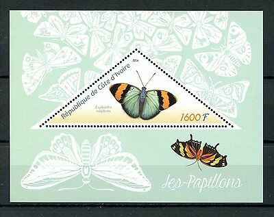 Ivory Coast 2016 MNH Butterflies 1v S/S Papillons Insects Butterfly Stamps