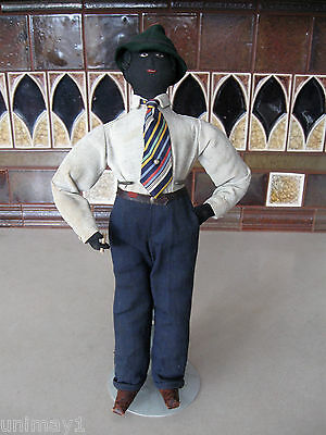 1920s or 1930s Black Folk Art Doll extremely rare original hand made